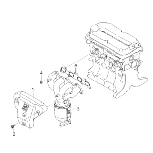 KIA 0K30E13460C GASKET ASSY EXH MANIFOLD | English: MANIFOLD GASKET