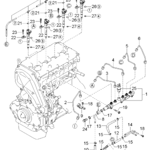KIA 338144A000 CLAMP-INJECTION