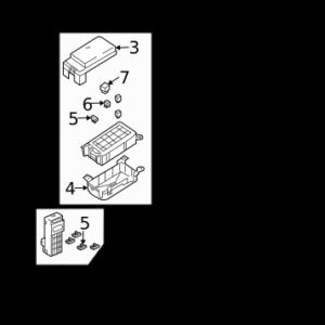 KIA 911703E920 BLOCK-FUSE | English: FUSE BOX