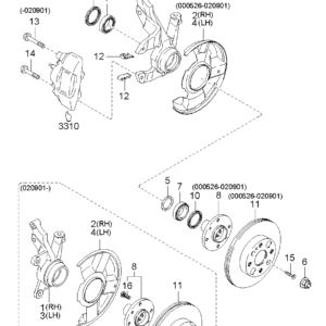 KIA 51720FD000 BEARING-FRT WHEEL | English: BEARING