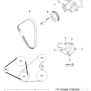 KIA 2512438001 GASKET-WATER PUMP