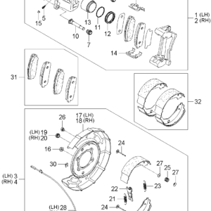 KIA 583023EE00 PAD KIT-RR DISC BRAKE