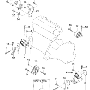 KIA 2484038212 ARM ASSY-TENSIONER