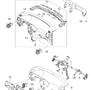 KIA 974101G000XI DUCT ASSY-CTR AIR VENT LH | English: CENTER DUCT