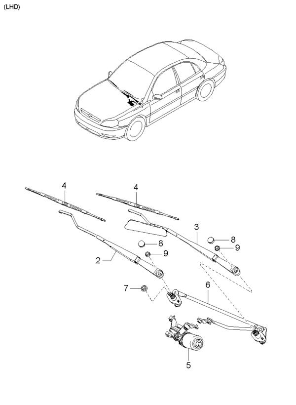 Kia Hyundai 0K30B67321 ARM-F.WIPER
