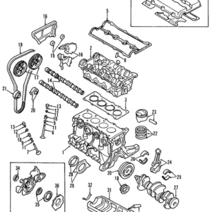 KIA 223112X200 GASKET CYLINDER HEAD   English: HEAD GASKET