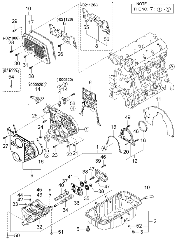 Kia Hyundai 0K55110602 OLIEKEERING