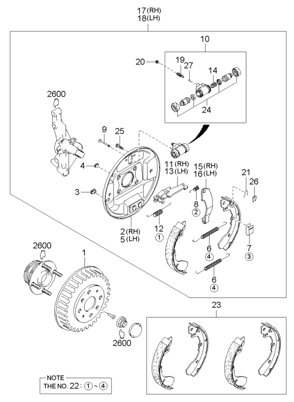 Kia Hyundai 0K90026347 SPRING-ANTIRATT