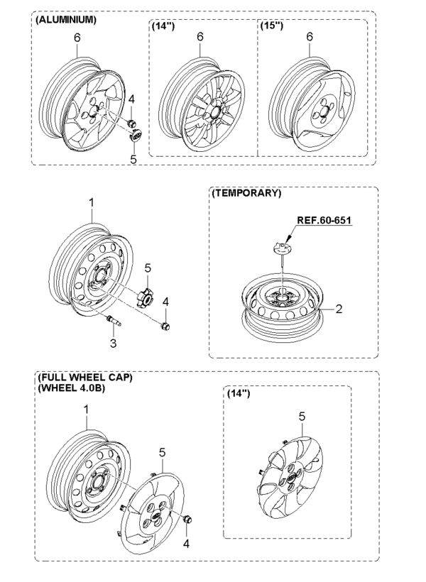Kia Hyundai 5296007000 CAP ASSY STEEL WHEEL HUB