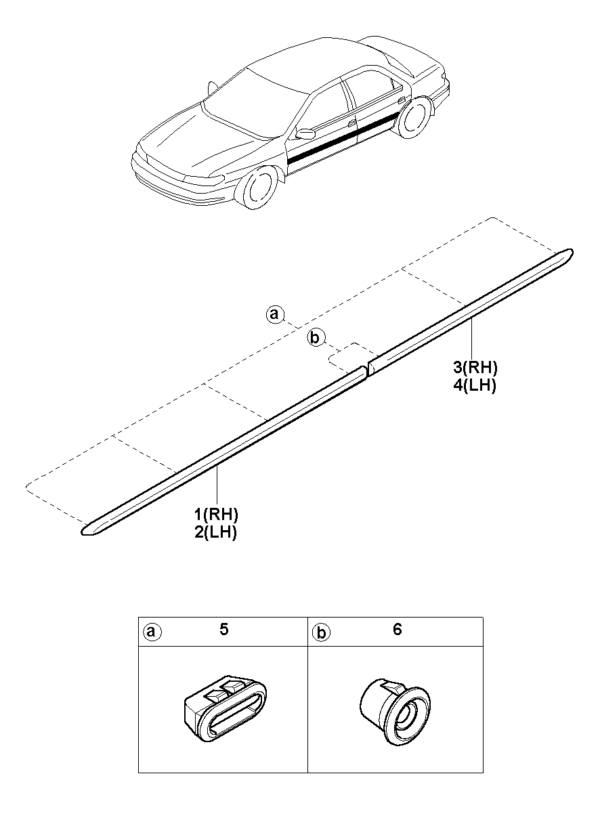 Kia Hyundai 0K9A051959A CLIP TUBULAR