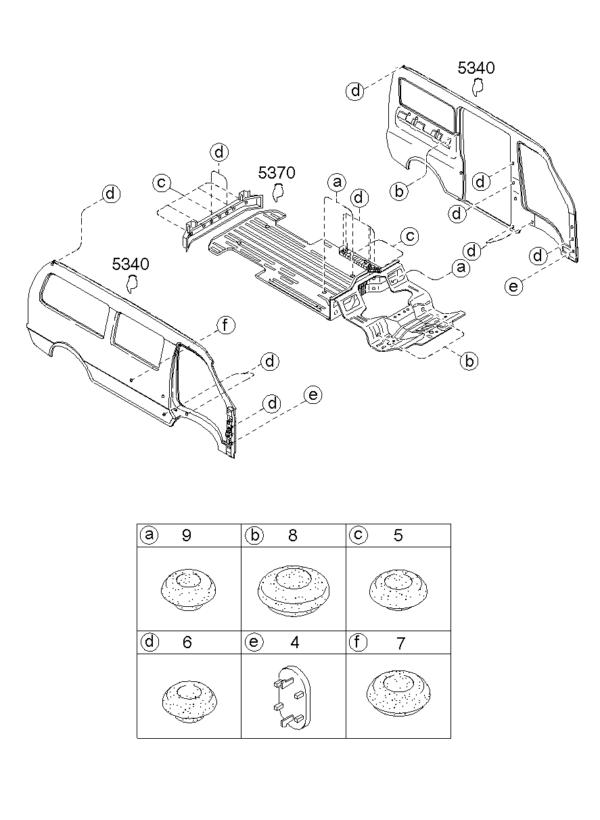 Kia Hyundai K999100502 GROMMET SCEW