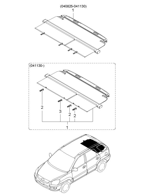 Kia Hyundai 859121F000WK HOOK-COVERING