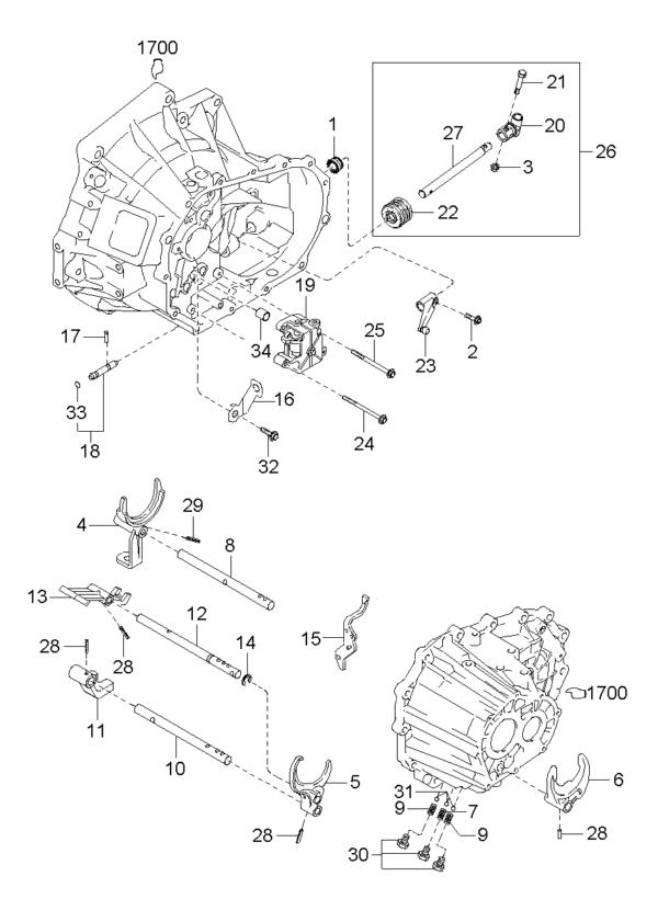 Kia Hyundai K992220520 PIN-SPRING