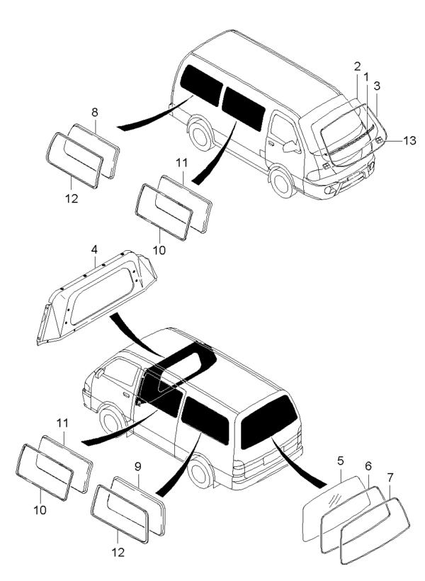 Kia Hyundai 0K72B62934 RUITLIJST-A.RUIT