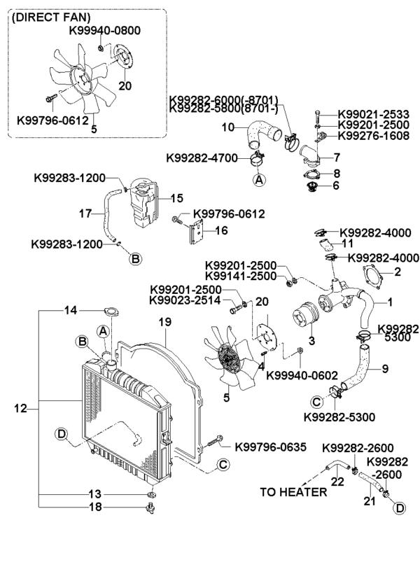 Kia Hyundai 0K75615171C THERMOSTAT