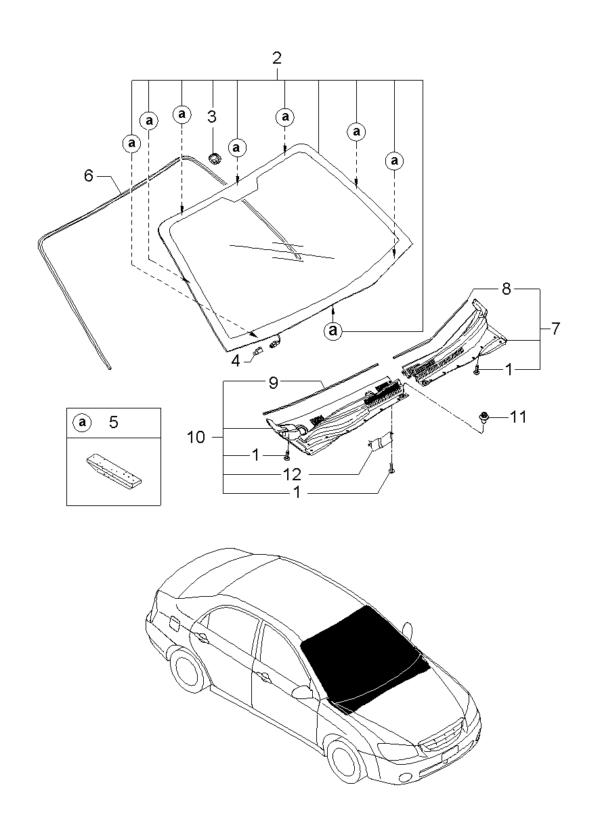Kia Hyundai 1249303087B T/SCREW-FLANGE HEAD
