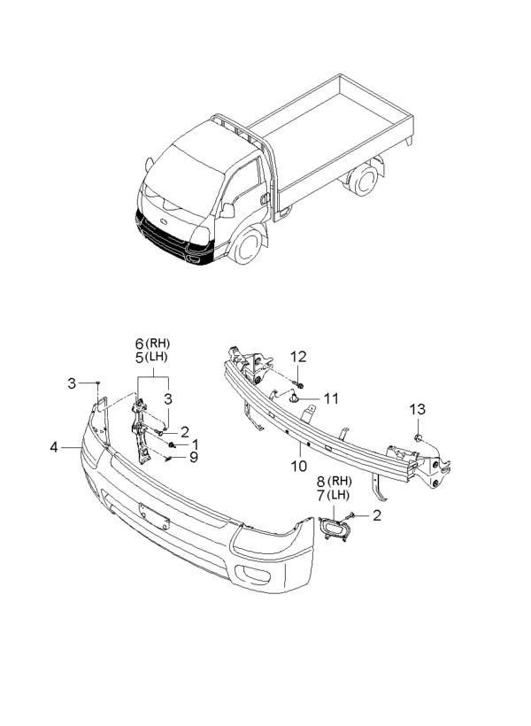 Kia Hyundai 8659028000 RETAINER ASSY-BUMPER COVE