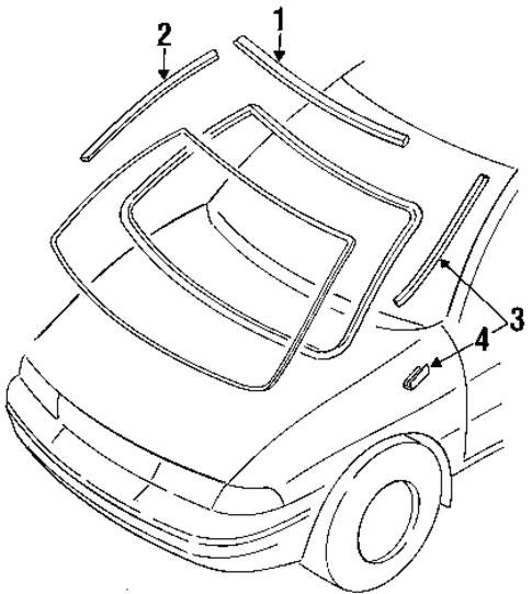 Kia Hyundai 0K20150603E RAAMSTRIP L.H.