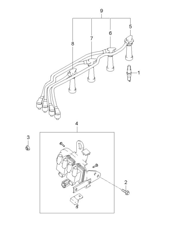 Kia Hyundai 2744023700 CABLE ASSY-SPARK PLUG NO. 3